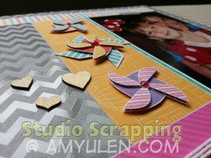 Use the Artiste Cricut cartridge to cut these cute pinwheel shapes!