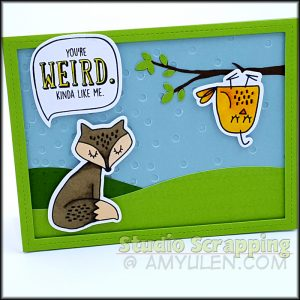 You're Weird card with Cricut Design Space file