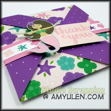 Mermaid Pinwheel Card Tutorial