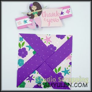 Pinwheel card without the belly band