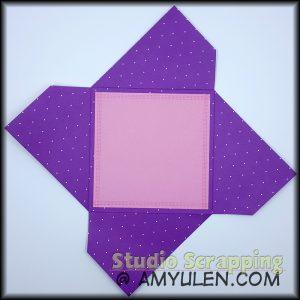 Pinwheel card opened