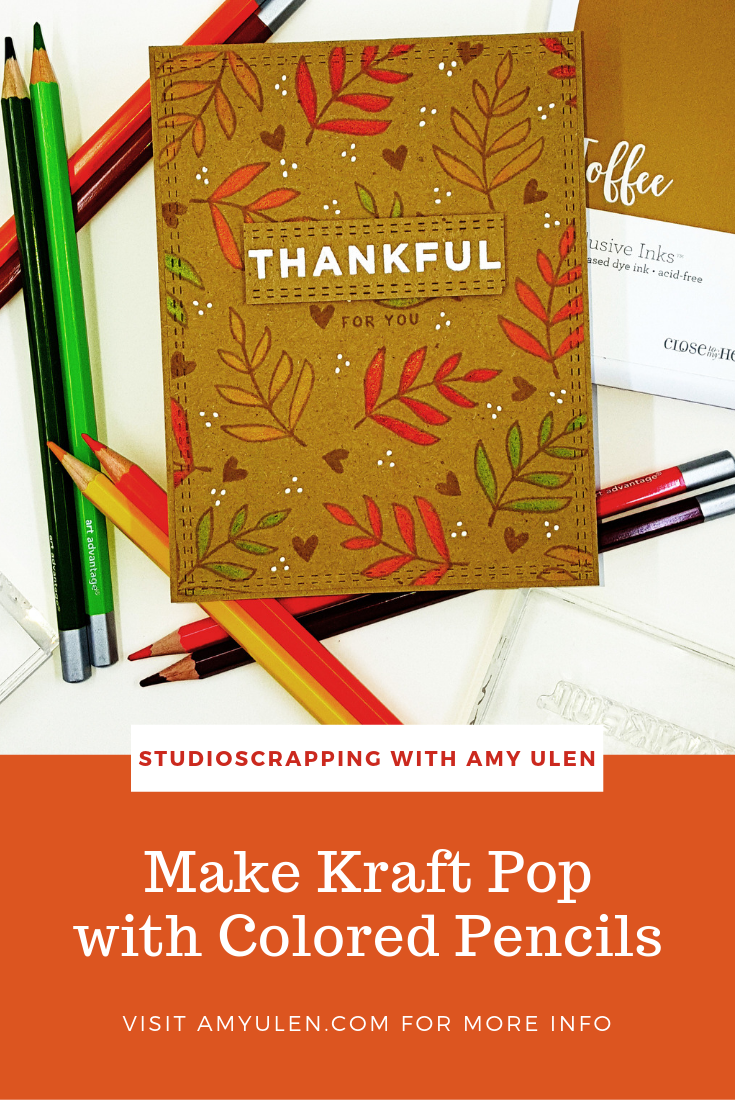 Make Kraft Pop with Colored Pencils - StudioScrapping with Amy Ulen